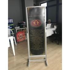 500x14000mm Sürgülü Afiş Standı Tam