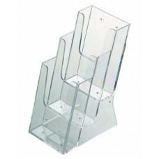 Masaüstü 3 Katlı 1/3 A4 Broşürlük(3x(10x21)Cm)